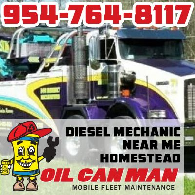954-764-8117 Homestead diesel mechanic near me with Oil Can Man warranty. Everything serviced on a timeline or if you need it now. In your parking lot or in our shop. Call for the difference in contracts.  http://oilcanman.com/diesel-mechanic-near-me-homestead/   #HomesteadDieselMechanicNearMe #DieselMechanicNearMeHomestead #HomesteadDieselMechanicsNearMe #DieselMechanicsNearMeHomestead  Oil Can Man 954-764-8117 730 NW 7th St Fort Lauderdale, FL 33311 Repairs@OilCanMan.com www.OilCanMan.com