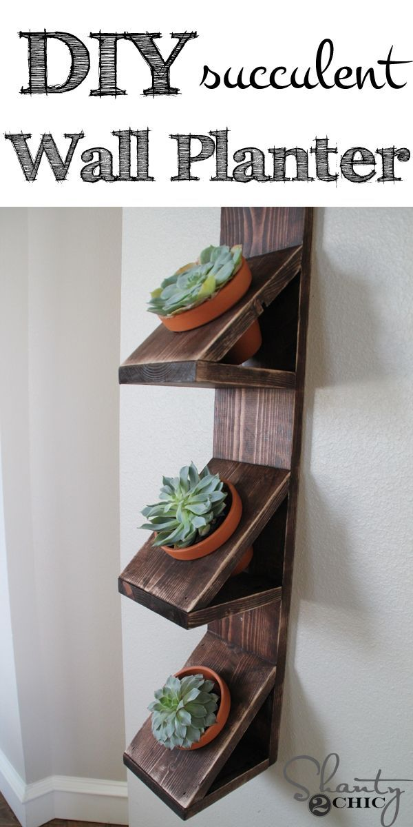 Easy DIY Succulent Wall Planter! LOVE this!                                                                                                                                                                                 More