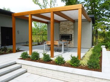 Design fireplaces and pictures on pinterest - Eigentijds pergola design ...