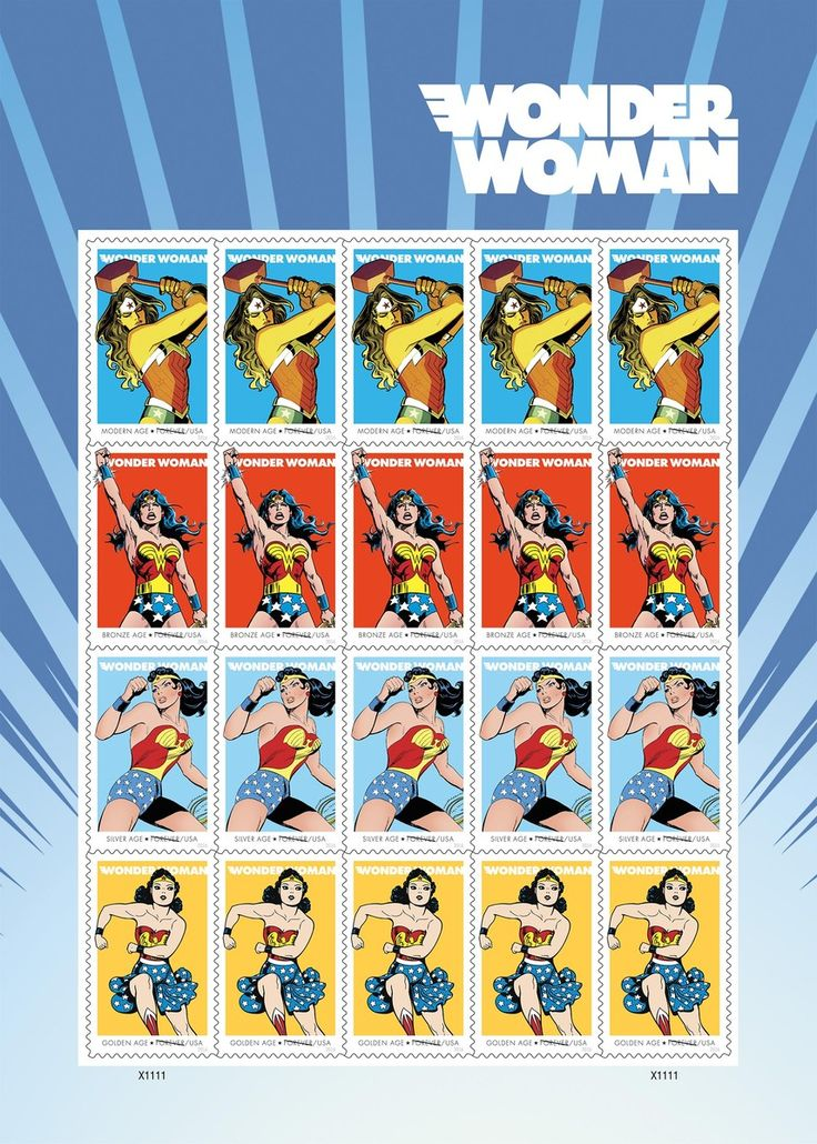 Wonder Woman's 75th Anniversary to be Celebrated on Forever Stamps | DC Ready to buy!