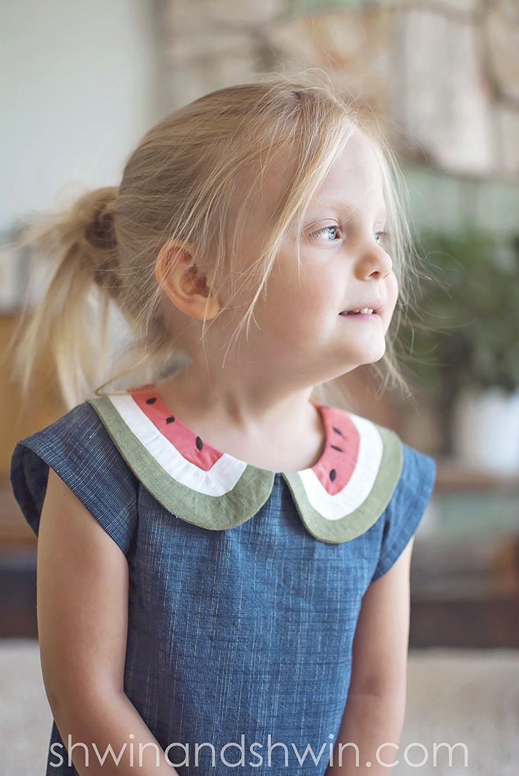 Instructions for Watermelon Dress || Free PDF Pattern || Shwin&Shwin