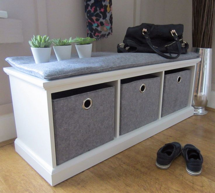 Awesome Storage Benches For Halls Part - 9: Tetbury Hallway Bench WHITE Pine Solid Wood Hallway Furniture Country Chic