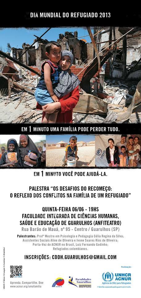Dia Mundial do Refugiado 6/6/2013