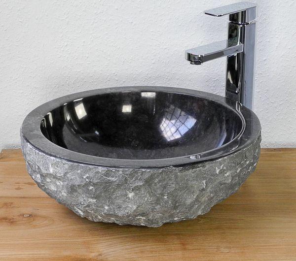 Wastafel Bowl Outside Full Marmo Color : Black Size: Ø 35 cm X H. 15 cm Ø 40 cm X H. 15 cm Ø 45 cm X H. 15 cm