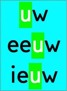 Meester Eeuwout - groep 3 :: meestereeuwoutgroep3.yurls.net Hoor je een w, dan doet de u ook mee.