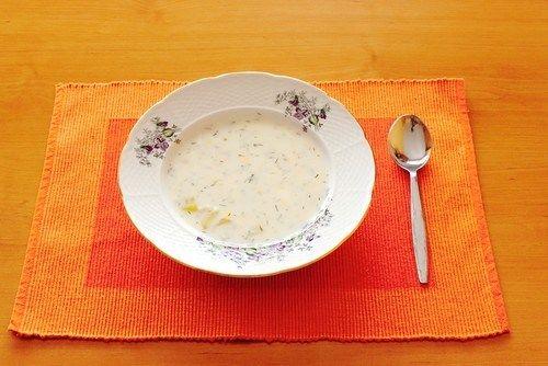Картофельный крем-суп с петрушкой
