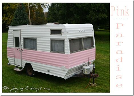 Painted Pink Paradise - 1972 Frolic Camper - Exterior | Glamper / Camper Remodel | Pinterest
