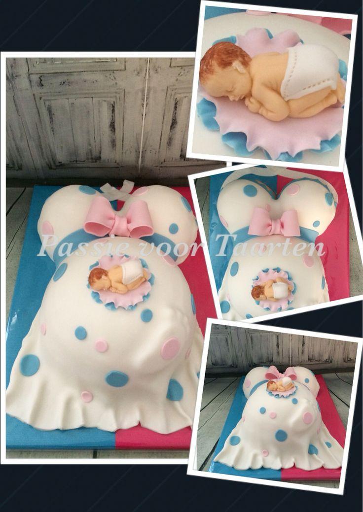 Zwangere buik taart/Belly cake