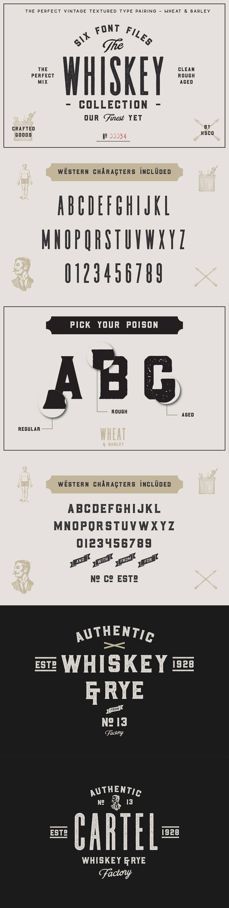 The #Whiskey #Font Collection
