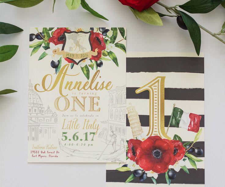 Italian Invitation: Little Italy 1st Birthday, Baby Shower, Bridal Shower - Any Event! Gondolier Party by SeaPaperDesigns on Etsy https://www.etsy.com/au/listing/529723095/italian-invitation-little-italy-1st