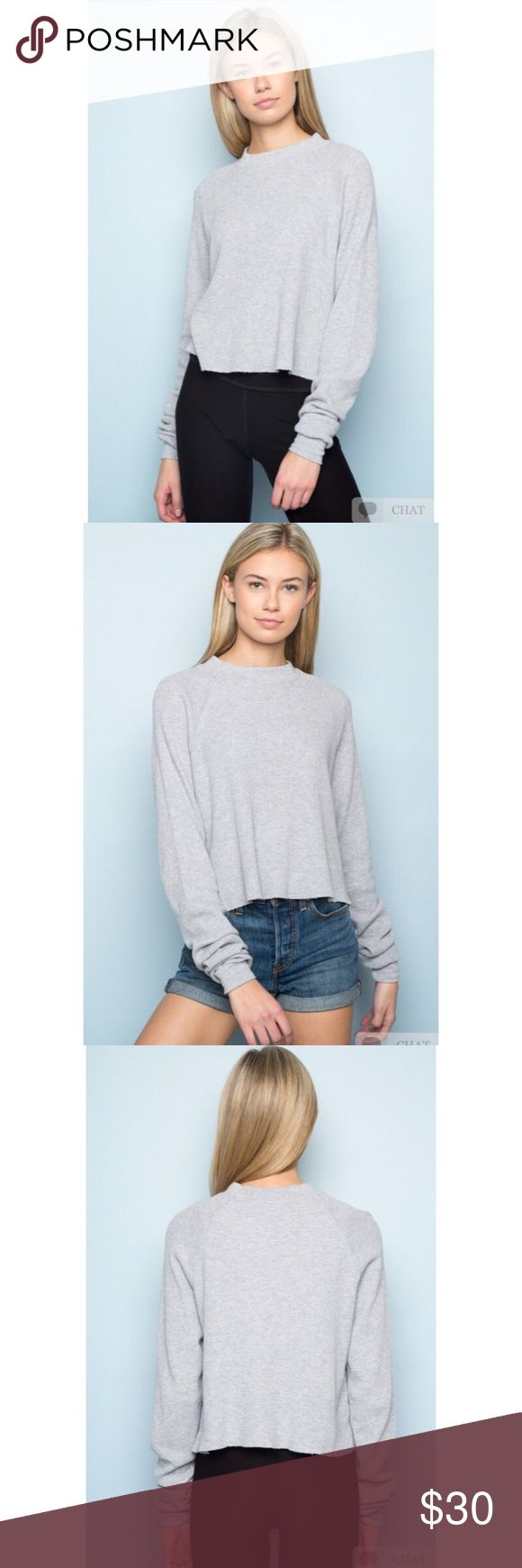 NEW! Brandy Melville Grey Thermal 💓 this is a brand new never been worn thermal from the brand Brandy Melville. The tags are still attached and can be purchased for full price online or in stores. I'm not accepting offers on this product, and I don't trades; however, I do offer a bundle discount. Cheers ✨ Happy Poshing! 💓 Brandy Melville Tops Tees - Long Sleeve