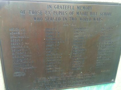 Maori Hill School Roll of Honour -  Historypin   Walking with an Anzac