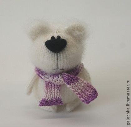 Медведь белый вязаный - белый,мишка,медведь,медвежонок,белый медведь,полярный медведь