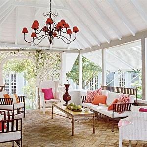 Screened in porch: Decor, Idea, Outdoor Rooms, Outdoor Living, Color, Patio, Porches, Outdoor Spaces, Sunroom