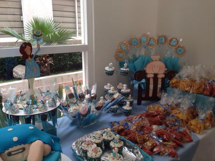 36 best images about mesas de dulces on pinterest nino for Mesa de dulces para baby shower nino