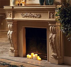 The Seville Fireplace Mantel is one of our customer favorites by far. Inspired by European detail, it's elegant and classy and starts at just $3515. http://www.mantelsdirect.com/cast_stone/majestic_series/seville-stone-fireplace-mantel.html