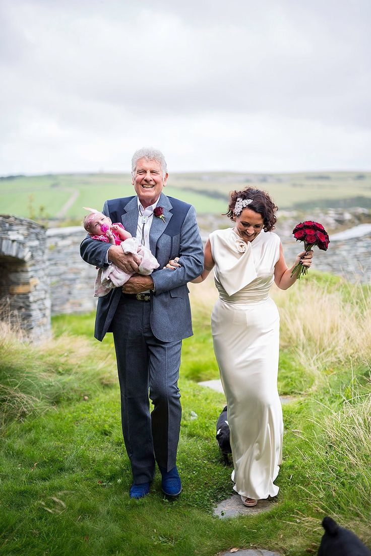 1930's Inspired David Fielden Elegance for a Family Wedding on the Cornish Coast. Photography by Matt Gillespie.