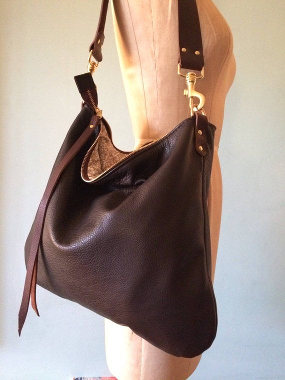 b09ecdbb57 Leather cross body bag or shoulder bag in beautiful soft Italian leather  Easy to wear and