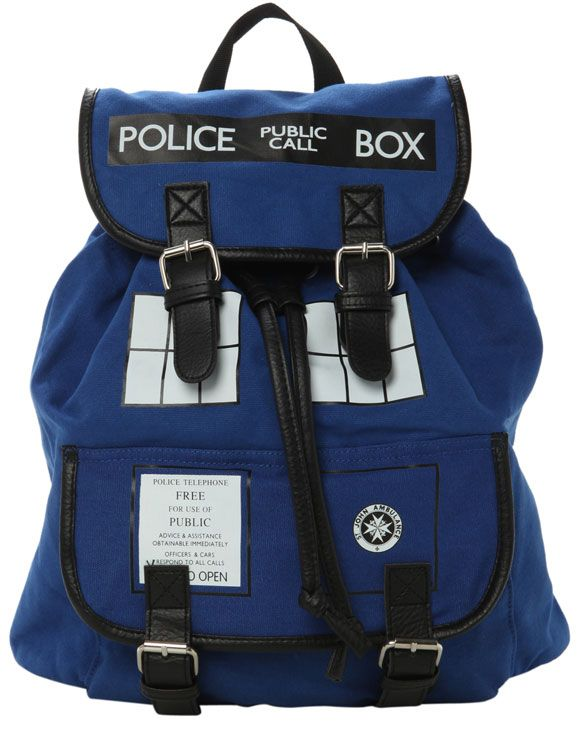Doctor Who TARDIS Slouch Backpack - but is one of the selling points that it's bigger on the inside??