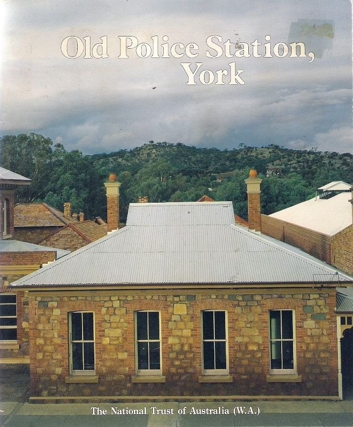 OLD POLICE STATION, YORK. The old police station & courthouse complex at York, that stands today on Avon Terrace, stretching down to Low Street, is a reminder of the heritage & growth of Western Australia. The complex was built over a period of some 60 years from the early 1840s to the turn of the century. It started at what is now the rear and built its way towards Avon Terrace, some sections being demolished to make way for newer and more substantial structures.