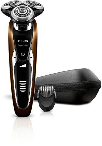 Philips S9511/42 Rasoir électrique Series 9000 avec tondeuse barbe et réglages de confort: Étanche Technologie Contour Detect : tête…