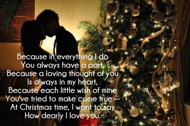 25 Merry Christmas Love Poems for Her and Him | Cute Love Quotes ...