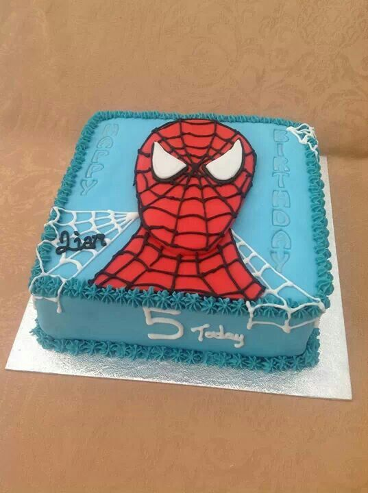 "Spiderman cake 8""sq"