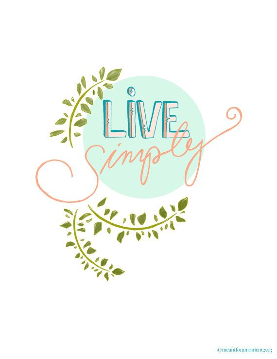LIVE SIMPLY Quote Pastel Sentiment Inspiring Hand by Meant4amoment, $12.00 Tara J Hannon