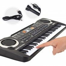 Multi-function 61 Keys Keyboard Electronic Organ with Microphone Music Simulation Piano Children Toys