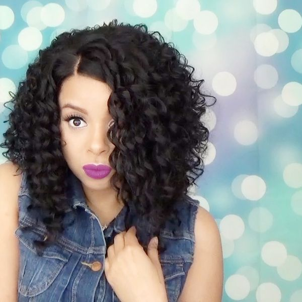 Come through curls! It's GLS66 wig from Friday Night Hair. I think she's gorgeous! A great curly unit for all. It's the perfect length for everyday wear. It is easy to style with great parting and natural density. What more…Read more ›