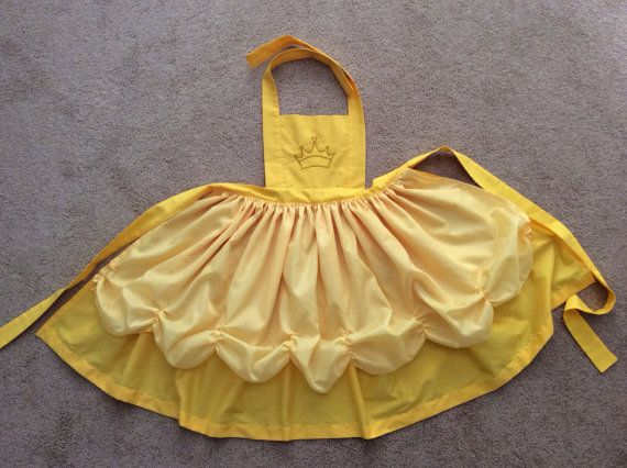 Disney Princess Inspired Belle Dress Up Apron by JeannineChristian