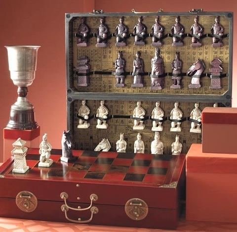 terracotta warrior chess set