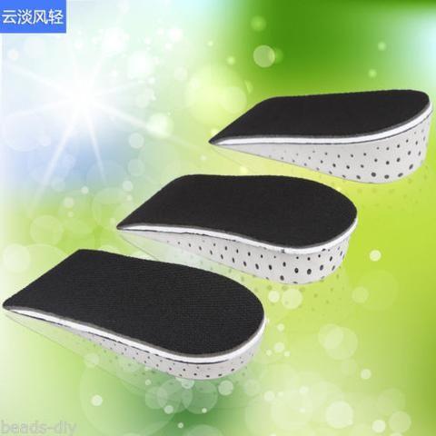 BD Men Women Memory Foam Height Half Shoes Insole Pad 2 3 4CM UP Increase