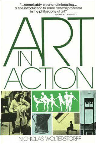Art in Action: Twards a Christian Aesthetic by Nicholas Wolterstorff, http://www.amazon.com/dp/0802818161/ref=cm_sw_r_pi_dp_rezqqb0G9MSHV