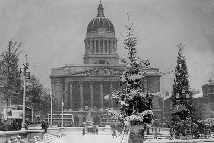 Old Market Square at Christmas, 1952. Photo Credit: Ed Dexter.