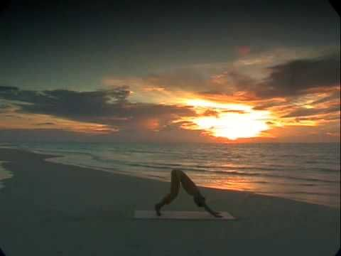 Morning Yoga: Shiva Rea Yoga Sun Salutation  soft and slow  8 mins
