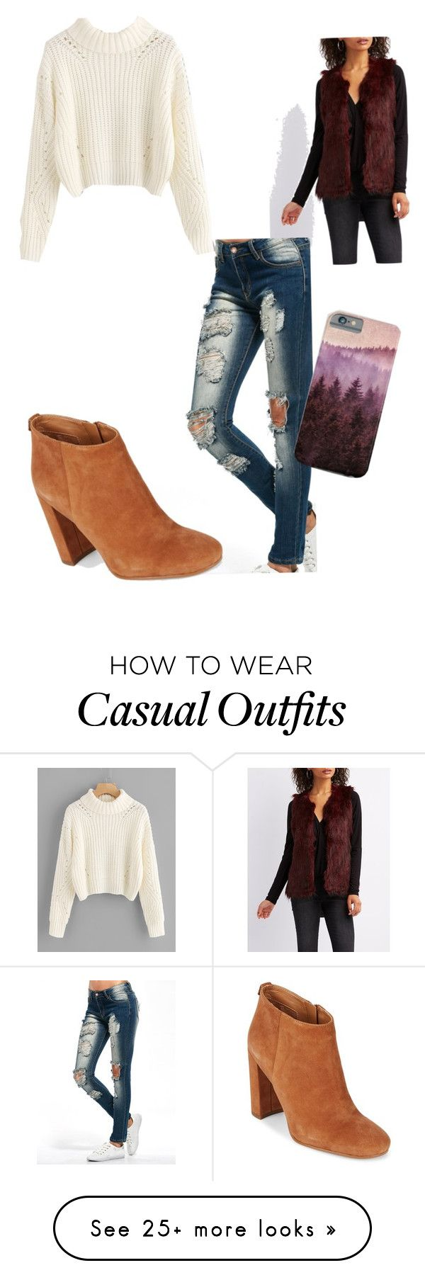 """Casual Winter"" by kayemilyt on Polyvore featuring Charlotte Russe and Sam Edelman"