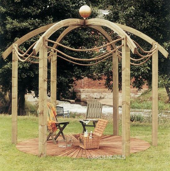 Circle Arbor: Circular Pergola, Perfect For Watching The Night Sky On A