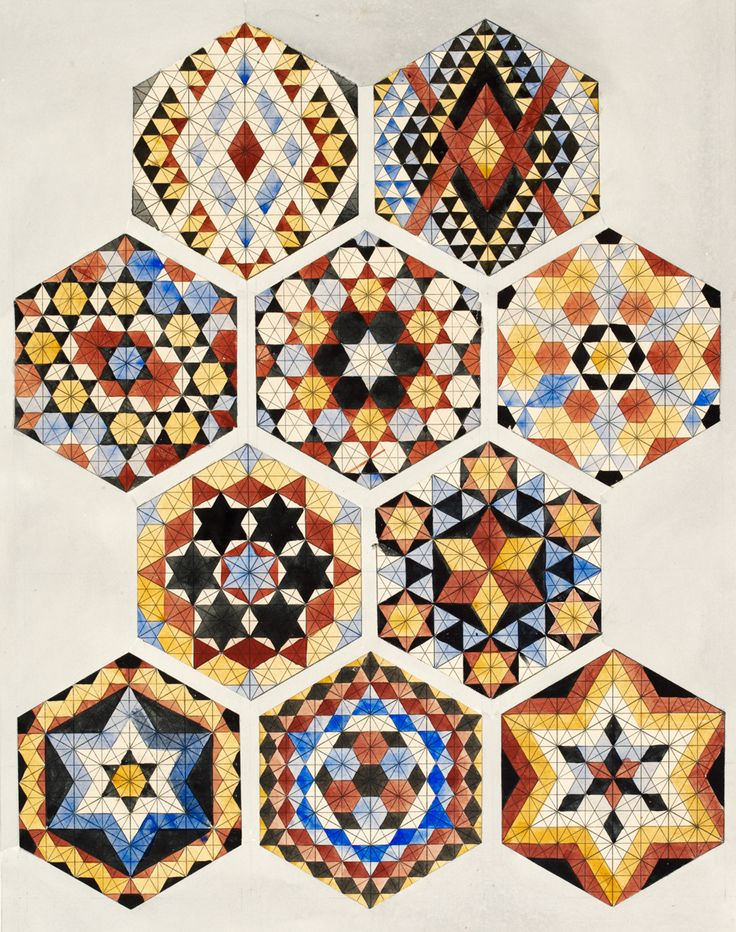 A higher ambition: Owen Jones (1809–74) - Victoria and Albert Museum Owen Jones, 'Designs for mosaics and tessellated pavements', 1842. Museum no. 8115:5