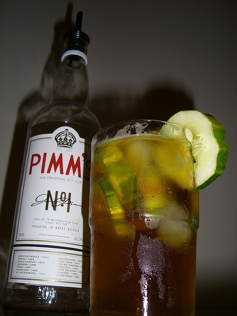 Napoleon House Pimm's Cup: Fill a tall 12 oz glass with ice and add 1 1/4 oz. Pimm's #1 and 3 oz lemonade. top off with 7up. Garnish with cucumber.: House Pimm'S 8217, Napoleon House