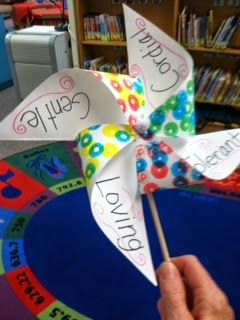 Pinwheels for International Dot Day and International Day of Peace!  Love it when two ideas come together so well!