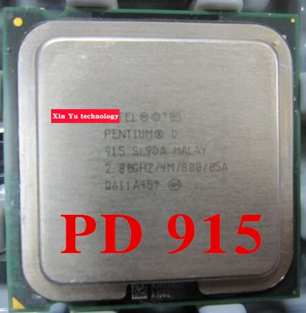 Lifetime warranty Pentium D 915 2.8GHz 4M Dual Core desktop processors CPU Socket LGA 775 pin Computer