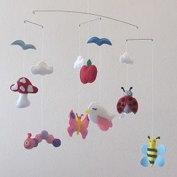 The birds and the bees - To order this fantastic handmade felt mobile visit www.for-example.co.za