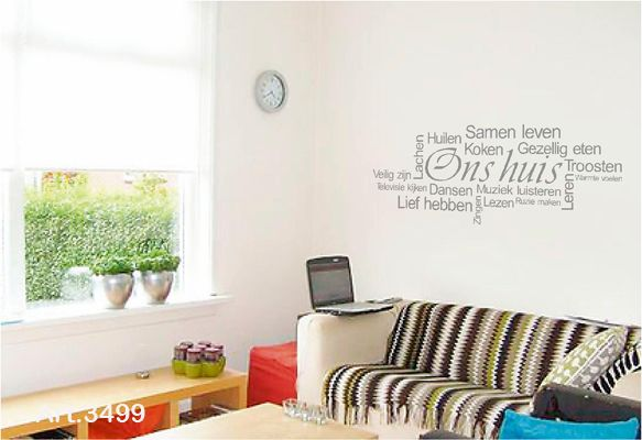 Mooi op de muur muurteksten deco teksten pinterest catalog - Deco originele muur ...