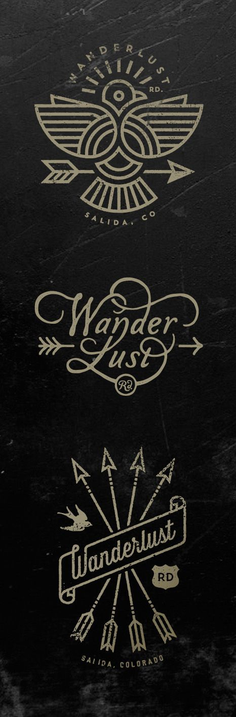 Wanderlust Logos by Jared Jacob of Sunday Lounge http://www.sundaylounge.com/