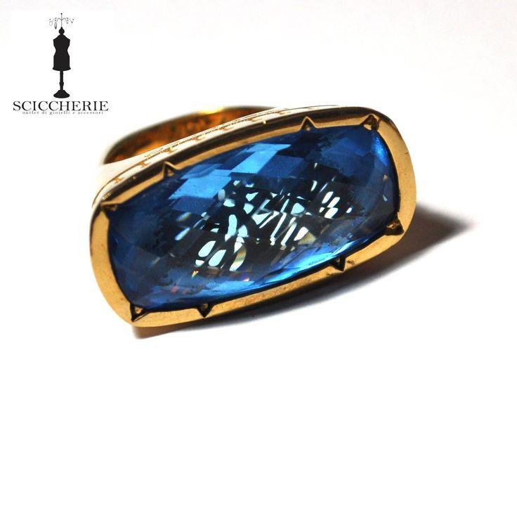 """Collezione """"Tropezienne"""". Anello in bronzo e pietra idrotermale IOLITE. #rings #rebeccagioielli"""