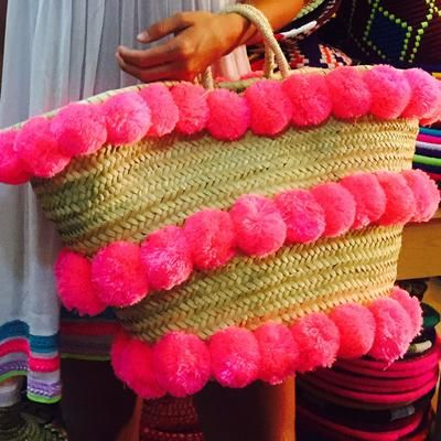 Show off your stripes! Choose one of our most popular straw bags by BOMBOM MOROCCO