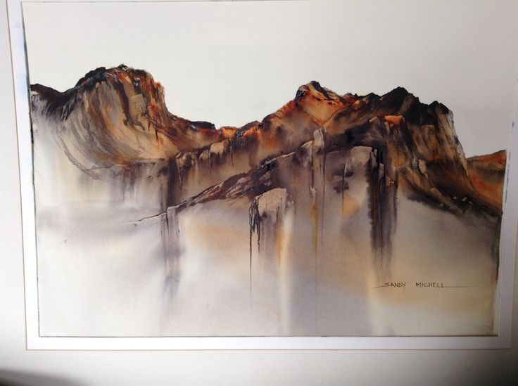 Watercolour -Tasmanian Highlands , 900x750 (2014)