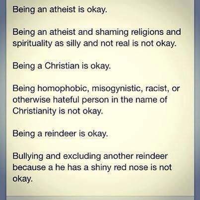 yeah SHAMING A REINDEER FOR HAVING A SHINY RED NOSE IS NOT OKAY.