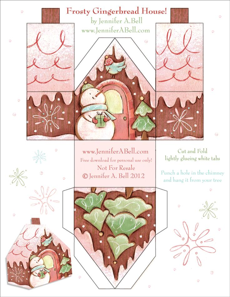 6 free gingerbread house printables